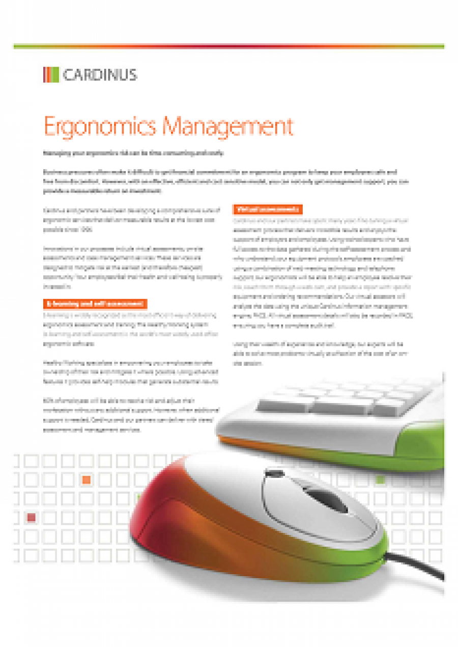 Ergonomics Managed Services