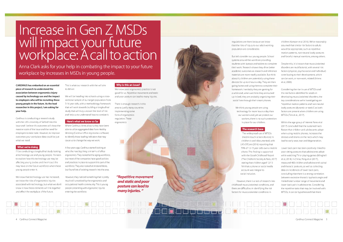 Increase in Gen Z MSDs Will Impact Your Future Workplace