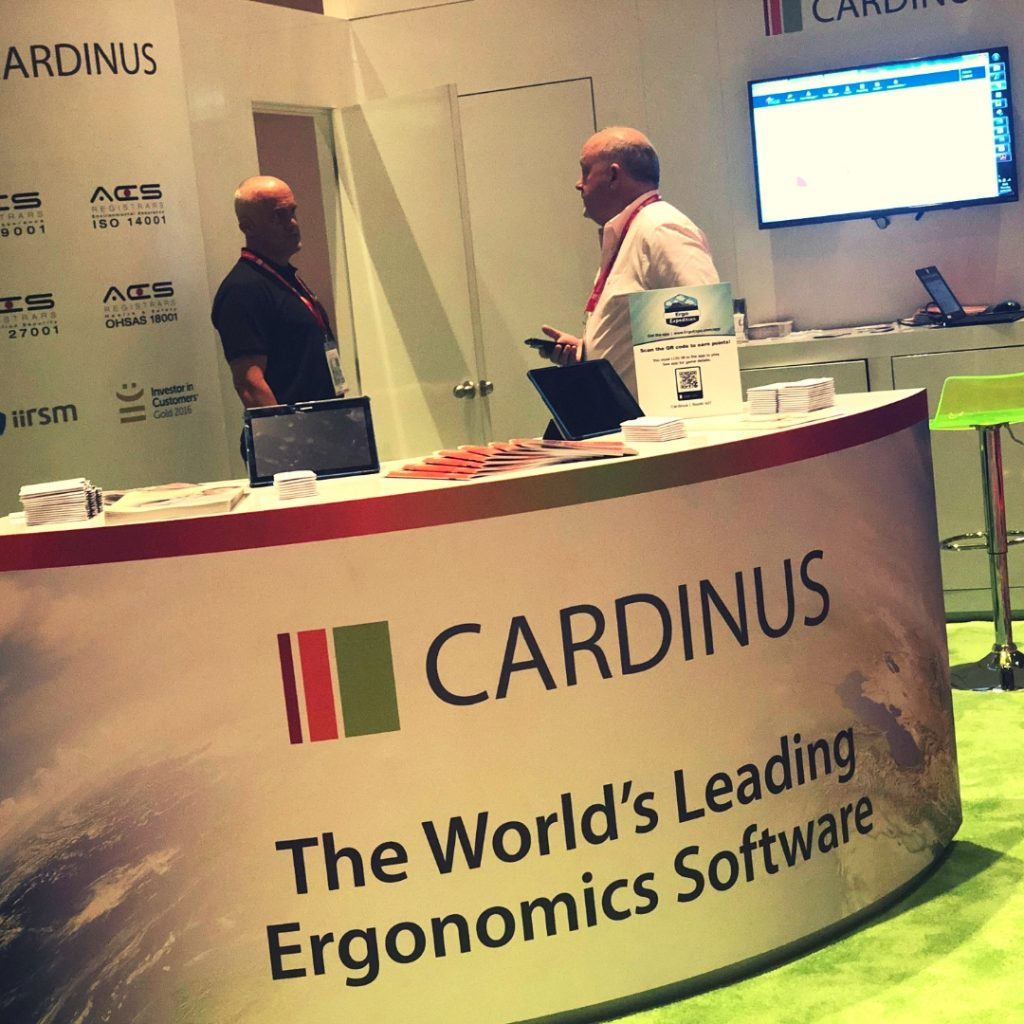 Cardinus CEO, Andy Hawkes, and President, Bill Pace, at the ErgoExpo booth