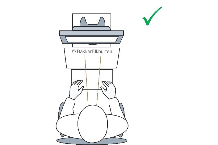 Correct setting for a document holder