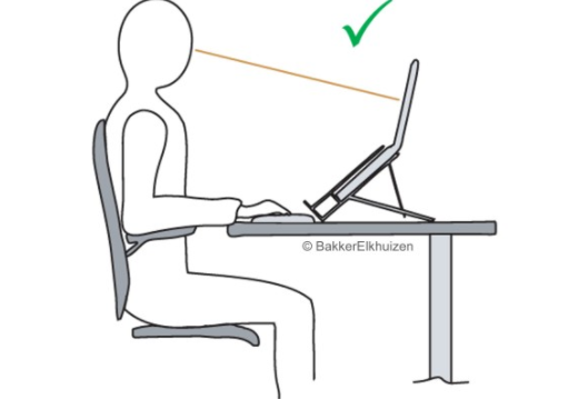 Correct setting with laptop stand