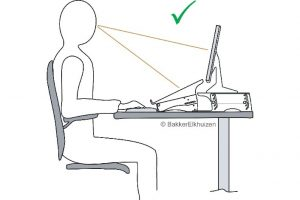 Correct setting for monitor, arms and risers