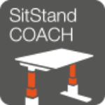 Sit stand coach logo - icon of standing desk