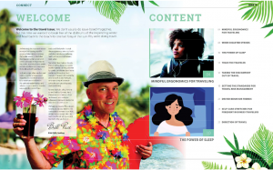 Cardinus Connect US - The Travel Issue Introduction spread with Bill Pace