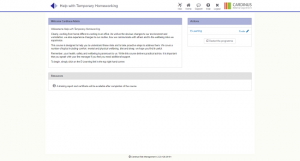 Screenshot of help with temporary homeworking page