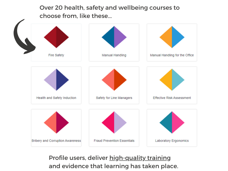 Different health, safety and wellbeing courses on offer