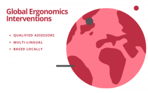 Global ergonomics interventions from Cardinus Risk Management. With qualified, multi-lingual and local assessors.