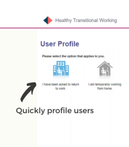 Screenshot of healthy transitional working user profile