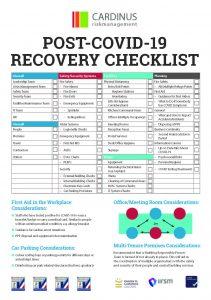 Post COVID-19 recovery checklist