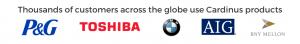 P&G Logo, Toshiba Logo, BMW Logo, AIG Logo and BNY Mellon Logo