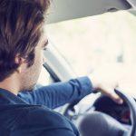 Fleet risk, young man driving car