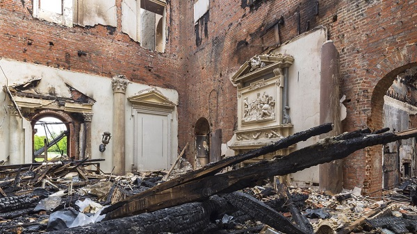 Clandon Park - More devastation.