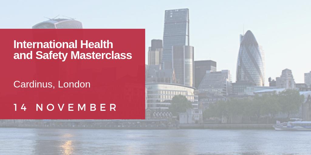 Health and Safety Masterclass | 14 November 2018