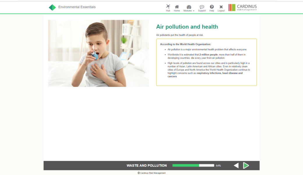 Environmental Essentials E-Learning | Healthy Working