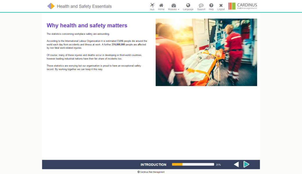Health and Safety Essentials E-Learning | Healthy Working
