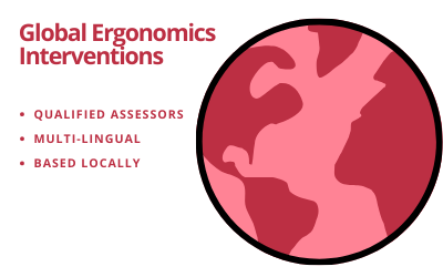 Video and telephonic ergonomics interventions by qualified, regional and local language assessors