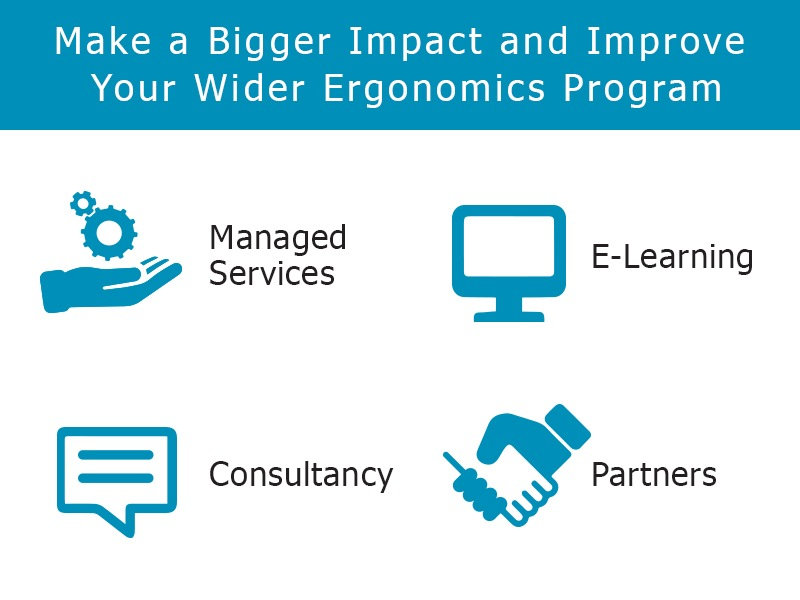 Make a bigger impact and improve your wider ergonomics program with managed services, e-learning, consultancy and partners.